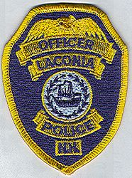Laconia Police Patch (gold edge, badge size) (NH)