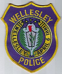 Wellesley Police Patch (color) (MA)