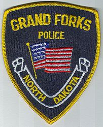 Grand Forks Police Patch (yellow edge) (ND)
