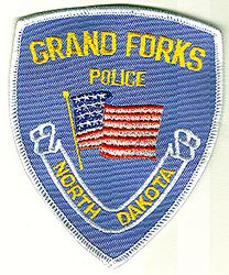 Grand Forks Police Patch (light blue/white edge) (ND)