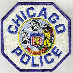 Chicago Police Patch (blue edge/letter, felt) (IL)