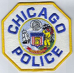 Chicago Police Patch (yellow edge/blue letters, felt) (IL)