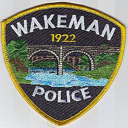 Wakeman Police Patch (bridge) (OH)