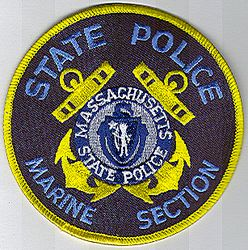 State: MA, State Police Marine Section Patch