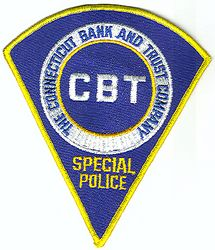CBT-CT Bank and Trust Co. Special Police Patch (obsolete) (CT)