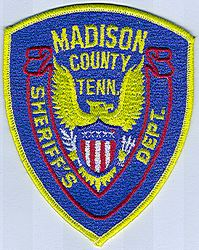 Sheriff: TN. Madison Co. Sheriffs Dept. Patc(bright yellow edge