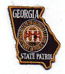 State: GA, State Patrol Patch (cap size)