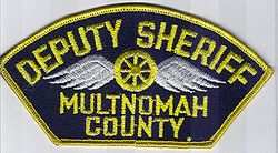 Sheriff: OR, Multnomah Co. Deputy Sheriff Patch (twill)
