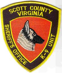 Sheriff: VA. Scott Co. K-9 Unit Sheriffs Office Patch