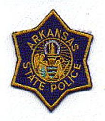 State: AR, State Police Patch (cap size)