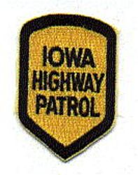 State: IA, Highway Patrol Patch (cap size)