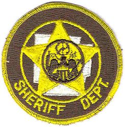 Sheriff: AR, Sheriffs Dept. Patch (yellow letters/edge)(off centered)