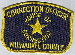 Milwaukee Co. Correction Officer Patch (WI)