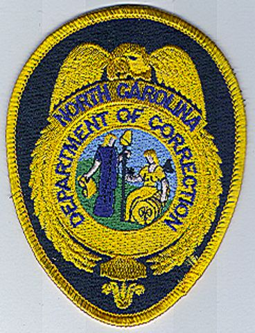 Dept. Of Correction Patch (badge Patch, W/ Black/gold Trim) (NC)