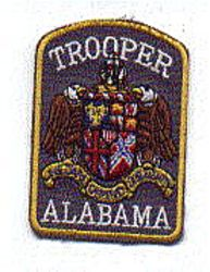 State: AL, Trooper Patch (cap size)