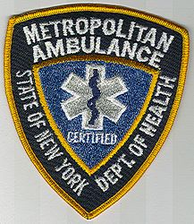 State: NY, Metropolitan Ambulance Patch