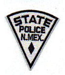 State: NM, State Police Patch (cap size)