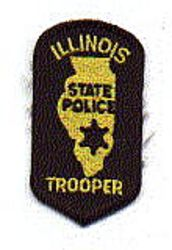 State: IL, State Police Trooper Patch (cap size)