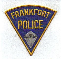 Frankfort Police Patch (blue/yellow) (IN)
