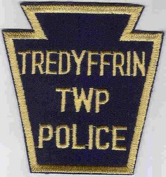 Tredyffrin Twp. Police Patch (blue/tan) (PA)