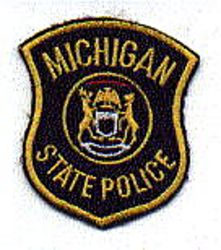State: MI, State Police Patch (cap size)