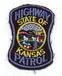State: KS, Highway Patrol Patch (cap size)