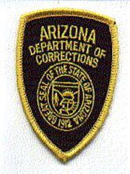 Dept. of Corrections Patch (cap size) (AZ)