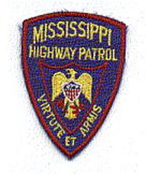 State: MS, Highway Patrol Patch (cap size)