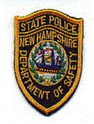 State: NH, State Police Patch (cap size)