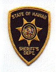 Sheriff: HI, Sheriffs Dept. Patch (cap size)