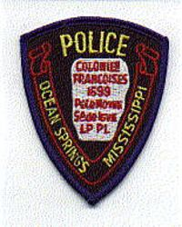 Ocean Springs Police Patch (cap size) (MS)