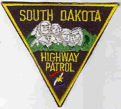 State: SD. Highway Patrol Patch (cap size)