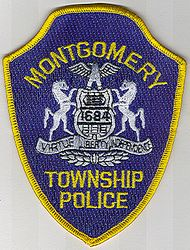 Montgomery Twp. Police Patch (yellow letters/edge) (PA)
