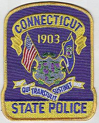 State: CT, State Police Patch (large)