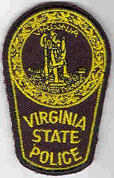 State: VA. State Police Patch (cap size)