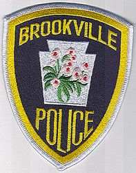 Brookville Police Patch (white edge) (PA)