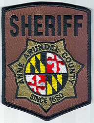 Sheriff: MD, Anne Arundel Co. Sheriff Patch(black letters/black edge)