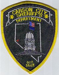 Sheriff: NV, Carson City Sheriffs Dept. Patch