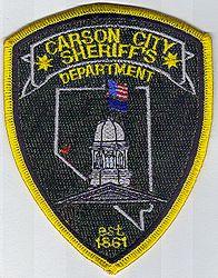 Sheriff: NV, Carson City Sheriffs Dept. Patch