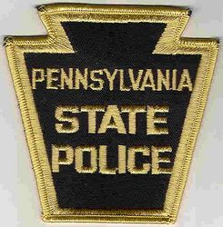 State: PA, State Police Patch (gold edge, twill, obsolete)