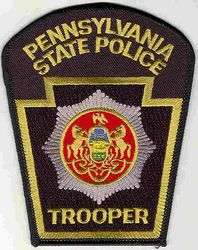 State: PA, State Police Trooper Patch (current issue)