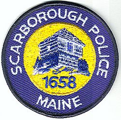 Scarborough Police Patch (black edge) (ME)