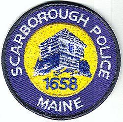 Scarborough Police Patch (black edge) (ME)