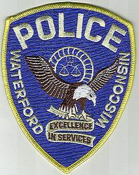 Waterford Police Patch (eagle) (WI)