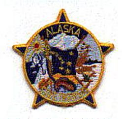 State: AK, State Troopers Patch (cap size)