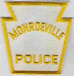 Monroeville Police Patch (white/yellow, twill) (PA)