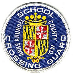 Anne Arundel Co. School Crossing Guard (white edge, round) (MD)