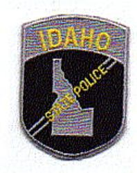 State: ID, State Police Patch (cap size)