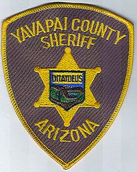 Sheriff: AZ, Yavapai Co. Sheriff Patch (gold edge)