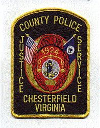 Chesterfield Co. 1924 Police Patch (VA)